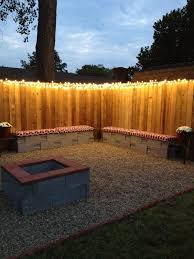 Fairy Light Fence And Cinder Block Benches Decoration Ideas