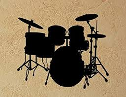 Amazon Com Drumset Drums Removable Wall Vinyl Decal Sticker Furniture Decor