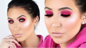 trendy hot pink smokey eye tutorial