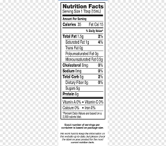 non dairy creamer nutrition facts label