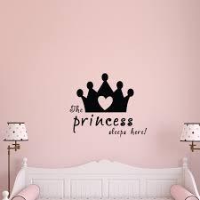 Zoomie Kids The Princess Sleeps Here Wall Decal Wayfair