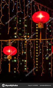 chinese lanterns wallpaper red