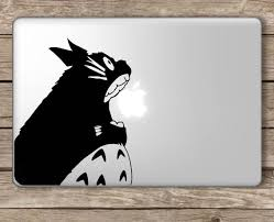 Buy Totoro Eating Apple Studio Ghibli Apple Macbook Laptop Vinyl Sticker Decal Die Cut Vinyl Decal For Windows Cars Trucks Tool Boxes Laptops Macbook Virtually Any Hard Smooth Surface In