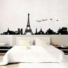 Eiffel Tower Wall Sticker Amazon Large Decal Vinyl Arch Design Removable Walmart Peel Stick Etsy Giant Vamosrayos