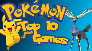 Vlogergames Countdowns - Top 10 Pokémon Games - YouTube