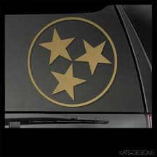 Tennessee State Tri Star Vinyl Decal Car Truck Window Sticker Tn 00016 Myfriendsdentist Com