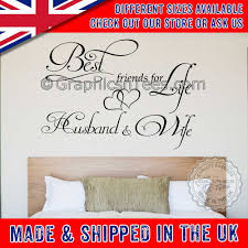 Best Friends For Life Husband And Wife Romantic Bedroom Wall Art Sticker Quote Decor Decal