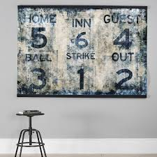 Baseball Scoreboard Wall Mural Wall Decor Pottery Barn Teen