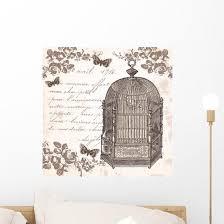 Bird Cage Wall Decal Wallmonkeys Com