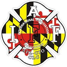 Maryland Iaff International Association Firefighters Vinyl Sticker At Sticker Shoppe