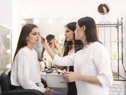 makeup teacher with her student