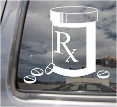 Amazon Com Right Now Decals Rx Pharmacist Prescription Pills Box Pharmacy Sign Symbol Cars Trucks Moped Helmet Hard Hat Auto Automotive Craft Laptop Vinyl Decal Store Window Wall Sticker 10601