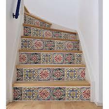 Wpss1984 Iznik Tile Stair Stripe Decal By Wallpops