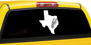 San Antonio Spurs Inspired Car Decal Spurs Inspired Window Car Decal Nba Team Inspired Laptop Sticker Sport Team Inspired De Car Decals Car Window Decals