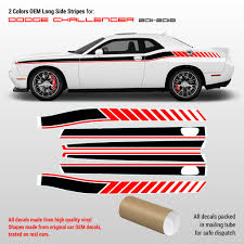 Dodge Challenger Side Stripes Decals 2011 2014 2 Colors