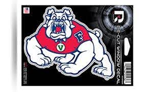 Fresno State Bulldogs 5 Decal Flat Vinyl Die Cut Sticker Emblem University Ebay