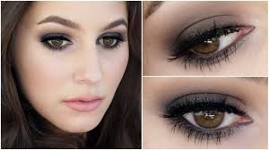 party makeup with black dress