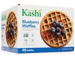 kashi blueberry waffles 48 ct whole