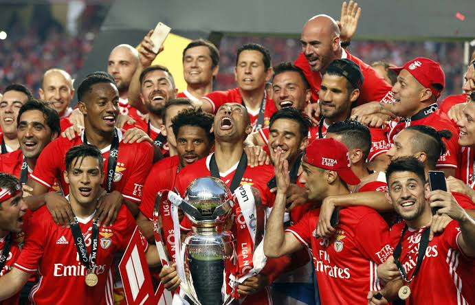 Image result for Benfica league trophy""