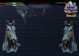 Ottb Horse Vinyl Decal For Cars Boats Trucks White Rainbowlands Lk