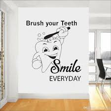 Dental Clinic Quote Wall Decal Dentist Smile Wall Art Stickers Decals Bathroom Waterproof Home Decor Teeth Tooth Wallpaper Letter Wall Decals Letter Wall Stickers From Onlinegame 8 06 Dhgate Com