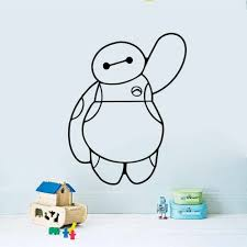 Baymax Big Hero 6 Vinyl Decal Removable Wall Sticker Kids Baby Home Decor Art Wall Decals 3 Sizes Decal Remover Wall Stickerwall Decals Aliexpress