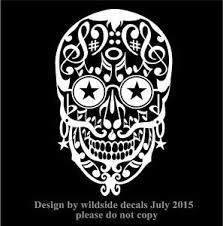 Musical Sugar Skull Decal Notes Car Window Vinyl Musician Rock Star Sticker Ebay