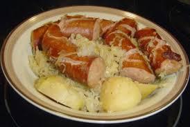 polish sausage sauer and potatoes