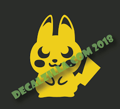 Pokemon Pikachu Silhouette Decal Sticker