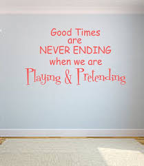 Playing And Pretending Vinyl Wall Decal Playroom Vinyl Etsy Playroom Wall Decor Playroom Quotes Kids Room Wall Decals