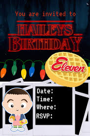 Stranger Things Birthday Party Invitaciones De Cumpleanos