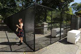 Central Park Fence For Pope Gets Strong Reactions The New York Times