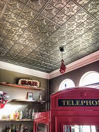 antiqued faux metal ceiling tiles isc