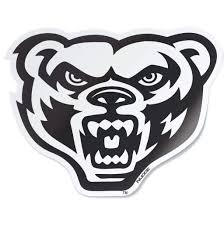 Oakland University Black White Golden Grizzly Bear Head Car Decal Nudge Printing
