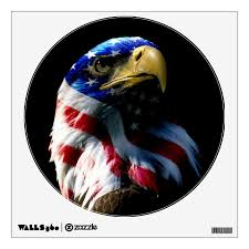 Patriotic American Eagle Wall Decal Zazzle Com