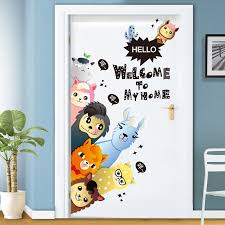 Waliicorners Alpacas Wall Stickers Pvc Material Diy Animals Wall Decals For Kids Room Baby Bedroom Door Decoration Waliicorner S Store
