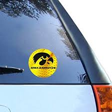 Amazon Com Iowa Hawkeyes 4 5 Team Logo Round Vinyl Decal Automotive