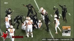 Adam Butler (Vanderbilt DT) vs Tennessee 2016 - YouTube