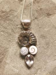 ammonite shiva shell necklace
