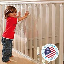 Amazon Com Kidkusion Indoor Outdoor Banister Guard Clear 15 Childrens Home Safety Products Baby
