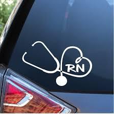 Nurse Stethoscope Rn Heart Nursing Window Decal Sticker Nurse Gift Custom Sticker Shop