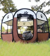 Portable Pet Tent Bed Dog And Cat Folding House Molleos