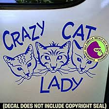 Animals Decals Stickers Crazy Cat Lady Vinyl Decal Sticker Car Window Laptop Wall Sign Collectibles Animals