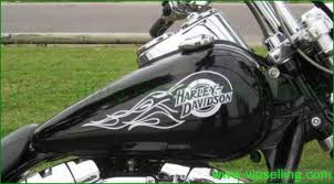Harley Davidson Flames Tank Right Left Pair Vinyl Decals Stickers Vipselling Com