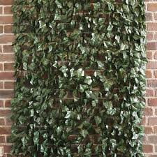 Dark Green Artificial Ivy Fence