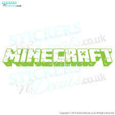 Minecraft Logo Vinyl Wall Decal Minecraft Wall Art