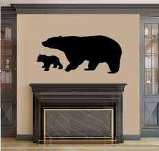 Amazon Com Bear And Baby Cub Wall Decal Home Decor 20 X 37 Everything Else
