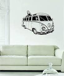 Amazon Com Vw Mini Bus Volkswagen Surfer Car Decal Sticker Wall Vinyl Art Home Kitchen