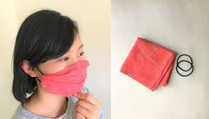 Face Mask with Handkerchief and Hair Tie