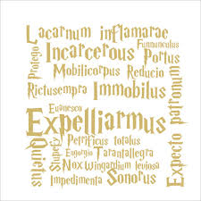 harry potter spells quotes wall stickers for home decor kids room